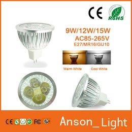 Wholesale 15w Mini Led Spot - High power CREE Led Lamp 9W 12W 15W Dimmable GU10 MR16 E27 E14 GU5.3 B22 Mini Led spot Light Spotlight bulbs downlight