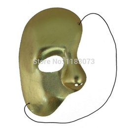 Wholesale White Jester Mask - Halloween Side Half Face Mask The Phantom Of The Opera Film Theme Masks Christmas Costume Cosplay Props 10pcs lot Free Shipping