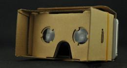 Wholesale Phone Toolkit - 2016 DIY Google Cardboard Mobile Phone Virtual Reality 3D Glasses Cardboard Google Cardboard VR Toolkit 3D Glasses Toys