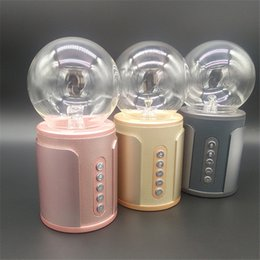 Wholesale Ion Bluetooth - P2 magic ball nightlight touch wireless Bluetooth speaker soundcard colorful light SP2 negative ion induced current subwoofer card 6-YX