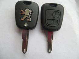 Wholesale Car Key Shell Peugeot - KL15 New 2 Buttons Remote Key Shell for Peugeot car key blank key case high quality