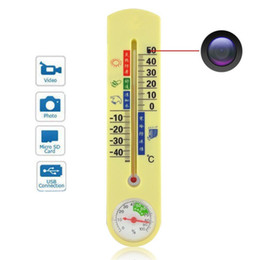 Wholesale Spy Camera Thermometer - Spy Mini Hidden Camera with 16GB Thermometer Motion Activated Security Camcorder Mini DVR Security Video Recorder Covert Nanny Camcorder DVR