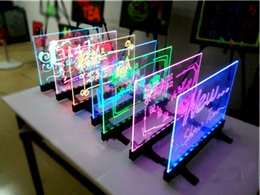Wholesale Led Neon Board Sign - 30x40CM LED Desktop&Hnaging Advertising Writing Board Promotion Neon Sign Signage Restaurant Bar Pizza Shop Menu Board