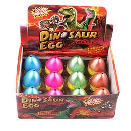 Wholesale Eggs For Hatching - Wholesale- Large Size 12pcs set Water Hatching Inflation Dinosaur Egg Novelty Toys Cracks Grow Egg Educational Easter Toys For Boy Kids