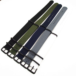 Wholesale Watch Strap Nato - Wholesale-Black buckle - Wholesale 10PCS lots High quality 20MM Nylon Watch band NATO straps waterproof watch strap 5 colors available