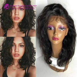 Wholesale Glueless Human Hair - Wavy Bob Human Hair Wig Glueless Lace Front Body Wave Full Lace Wigs With Baby Hair Short Full Lace Bob human hair Wigs
