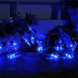 Wholesale Decoration Spider - Halloween 20leds Spider Bat Shape Stylish led string fairy lights festival party garden tree window decoration AA Battery Power