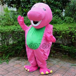 Wholesale Usa Halloween Costumes - Halloween Barney Dinosaur Mascot Costume Party game Dress Adult Free ship to USA