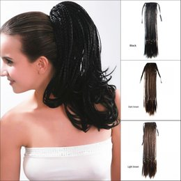 "Wholesale Micro Braids Hair Extensions - Sara,Braiding Hair Drawstring Straight Micro Braids Ponytail Hair Extension 45CM,18"",Clip in on Ponytails Synthetic Hairpiece Horsetail"