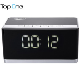 Wholesale Dock Radio - Wholesale- MUSKY DY - 27 Bluetooth Speaker LED Display Clock Alarm FM Radio Support AUX TF Card MP3 Player 6000mAh for Mobile Phone PC