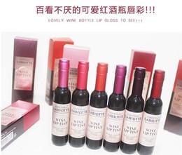 Wholesale Cosmetics Korean Wholesaler - .Korean Brand Wine Red Shape Lip Tint Baby Pink Lip For Women Batom Gift Makeup Liquid Lipstick Chateau Lipgloss Cosmetic free shipping