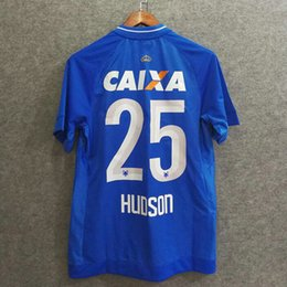 Wholesale Clothing Blue - Perfect 17 18 Cruzeiro esporte home fans soccer jerseys football shirts AAA soccer clothing customize name number dede 26 futbol jerseys