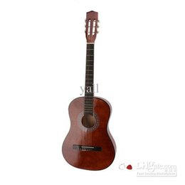 "Wholesale Semi Acoustic - Wholesale USA Free Shipping 38-inch 38"" High-Quality Student Beginner Acoustic Guitar Brown + Pick + Chord Y00470"