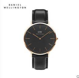 Wholesale Men Rose Gold Watches - New fashion 2017 Discount DW Watch fashion rose gold nylon Strap Daniel Men Women Wellington Wristwatch