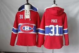 Wholesale K L - Montreal Canadiens Jerseys Blank 31 Carey Price 14 Tomas Plekanec 67 Max Pacioretty 76 P K Subban Hoodies Sweatshirts Free Shipping
