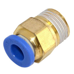 "Wholesale pneumatic push fittings - 1 Pc Male 1 4""&1 8"" 6mm,8mm Straight Push in Fitting Pneumatic Push to Connect Air B00010 BAR"