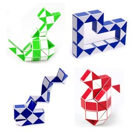 Wholesale Cube Jigsaw - Shengshou Snake Magic Cube Puzzle Twist Jigsaw Puzzle Magic Ruler 3D Snake Toys Children Education Intelligence Toy Free Shipping