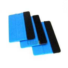 Wholesale Car Wrapping Carbon Accessories - 1PCS Car Vinyl Film wrapping tools Blue 3M Scraper squeegee with felt edge size 12.5cm*8cm Car Styling Stickers Accessories
