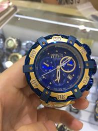 Wholesale Hand Watch Waterproof - 888 NEW 2017 new watches to the U. S. he Invictas INVICTA big racing watch stainless steel waterproof hollow quartz men's men's Watch