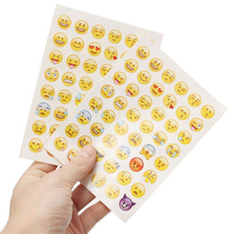 Wholesale pvc dies - Sweet Home Emoji Stickers Paster Die Emoji Smile Sticker for Home Decor Phone Decoration Christmas Birthday Gifts 10packs lot