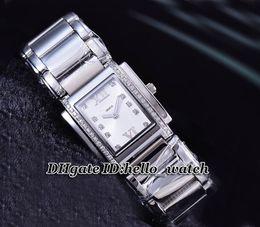 Wholesale Swiss Quartz Ladies - Super Clone Brand Fashion PP Twenty-4 Diamond Bezel White Dial Ladies Watch 4910 10A-011 Swiss Quartz Stainless Steel Bracelet Womens Watch