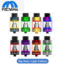 Wholesale Metal Led - Authentic SMOK TFV8 Big Baby Tank Light Edition 5 Colors with Bottom Changeable LED Sub Ohm Atomizer vs Sigelei Meteor 100% Original