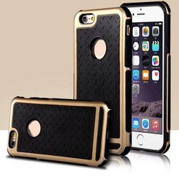 Wholesale Rubber Case Iphone Gold - Wholesale Luxury cell Phone Case For iPhone 8 8Plus 7 6 6S Plus Rubber Hybrid Rugged mobile phone silicon case