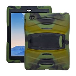 Wholesale Soft Silicone Handbag For Iphone - For New IPad 9.7 3 In 1 Soft Robot Defender Silicone Hybrid PC Hard Case Cover IPad 5 6 Air 1 2 Pro-9.7 Samsung Tab T560 T580 OppBag