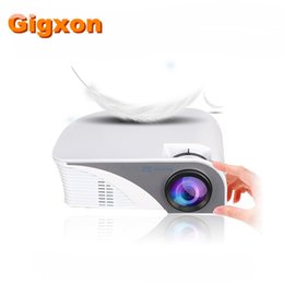 Wholesale New Usb Products - Gigxon - G8005B NEW fashion Product mini projector big 7d cinema projector 4K theater projectors for Home Use Eaducation