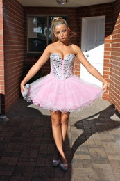 Wholesale White Prom Dress Ruching - A-Line Princess Strapless Sweetheart Short   Mini Tulle Cocktail Party Prom Dress with Beading Draping Ruching