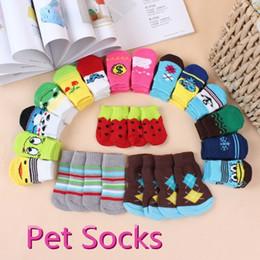 Wholesale Design Pet Dog Socks - 50 pcs Lowest Price Cartoon Design Colorful Pet Socks Dog Socks dog Non-slip socks pet Anti-skid partic socks cat socks