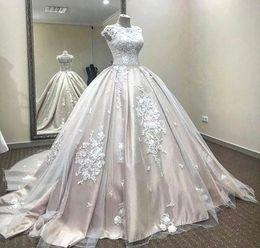 Robes de maternité en arabe en Ligne-Image réelle Dit Mhamad 2020 Blush Robes de mariée arabes Dubai Robes de mariée robe de bal Vintage robe de mariée maternité robes de mariée enceintes