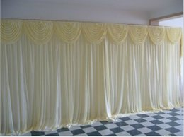 Wholesale Cheap Wedding Curtains - Cheap Sale 3m*3m 3m*6m Wedding Backdrop Swag Party Curtain Celebration Stage Performance Background Drape Wedding Favors Suppliers