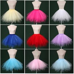 Wholesale Hot Pink Petticoat Skirts - Tulle Ball Gown Bridal Petticoat 2017 Adjustable Tu Tu Skirt New Short Dance Wear Hot Cosplay Petticoat