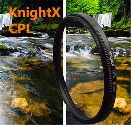 Dslr kamerafilter online-KnightX 49-77mm 67MM cpl Filter für Canon Nikon D5300 D5500 DSLR-Kamera Objektive Zubehör Kamera D5200 D3300 D3100 D5100