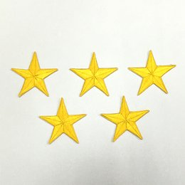 "Wholesale Crown Patches - Five-pointed star Imperial crown 2.8""*2.8"" Embroidered patch Cartoon Applique garment embroidery patches Love diy accessory"