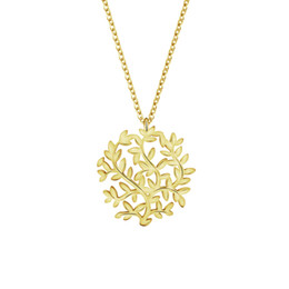 Wholesale Copper Filigree Necklace - Wholesale 10Pcs lot 2017 New Promotion Fashion Jewelry Pendant Tree Leaf Filigree Gold Chains Choker Necklaces For Women Wedding Gifts