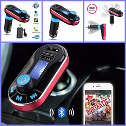 Wholesale Car Amplifier Usb Sd Display - BT66 Wireless Bluetooth Car Kit FM Transmitter MP3 Player With Dual 2.1A USB Charger Support USB SD Card Wireless Remote Control LCD Display