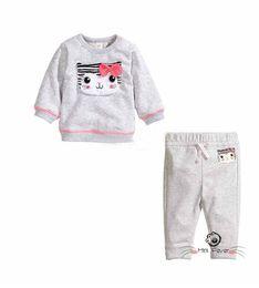 Wholesale Cotton Pajamas Sports - infant girls sport suits girls spring autumn clothing sets new cotton pajamas 2pcs girls Christmas Set Clothes Tops Ruffle Pants