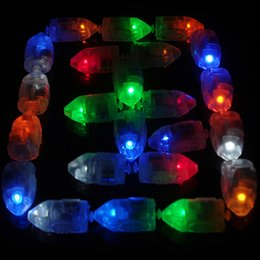 Wholesale Paper Lanterns Red - LED Lamps Balloon Lights for Paper Lantern Balloon White Red Blue Green Yellow Multicolor Christmas Party Floral Decoration lights