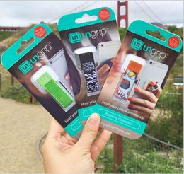 Wholesale Packaging Design Cell Phone - New Design Ungrip Soft Finger Grip for Phone Universal Mobile Phone Ring Lazy Stent Cell Phone Buckle Ring Holder Mount With Retail Package