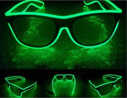Wholesale Bright Years - 100pcs  EL Wire Light LED Glasses Bright Light Party Glasses Club Bar Performance Glow Party DJ Dance Eyeglasses