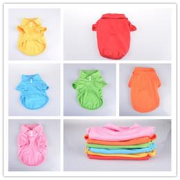 Wholesale Plus Size Upper Garments - Pet Candy Polo Shirt Cotton Winter Dog Outerwears Pet Polo Unlined Upper Garment Cotton Plus Size 5 Styles CYF66