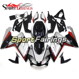 Wholesale Motorbike Aprilia Fairings - Silvet Black Red Full Fairing Kits For Aprilia RS4 125 RS125 2006 - 2011 Injection ABS Motorcycle Fairing Bodyworks Motorbike Hulls Cowlings
