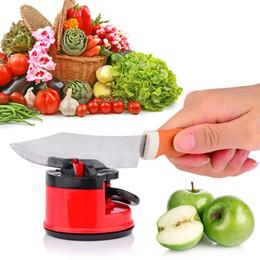 Afilador de cuchillos inteligente al por mayor en el hogar Amolador de Faca Tijeras Molinillo de succión segura Pad Chef Herramienta de afilado de cocina desde fabricantes