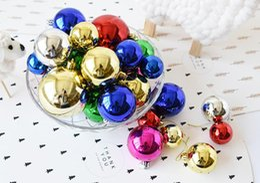 Wholesale Red Plastic Ornaments Balls - Christmas Tree Balls Ornaments Christmas Decorations Shatterproof Balls 24Pcs Trees Wedding Party Mini Tree Decorations With Muticolor
