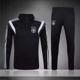 Wholesale Germany Suits - 2017 New Top quality Germany soccer tracksuit chandal Germany football Tracksuit training suit skinny pants Sports