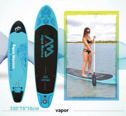 Wholesale Inflatable Stand Up Board - 330*75*10cm AQUA MARINA 11 feet VAPOR inflatable sup board stand up paddle board inflatable surf board surfboard,inflatable boat
