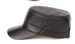Wholesale Leather Berets - Sheepskin leather hat men and women hat 2016 famous autumn and winter hat casual Genuine Leather men women cap hat flat Berets hats