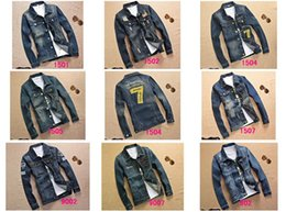 Wholesale Male Feather Long Jacket - Spring Fall-2016 New Cowboy Jacket Men Fashion Denim Water-washed Casual Jackets Male Clothes Chest Pocket Coat
